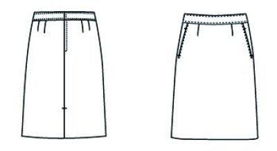 画像3: 【フォーク】スカート(ブラック) FS45855-9